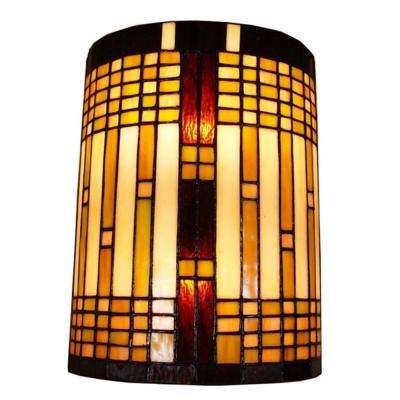 2-Light Tiffany Style Geometric Wall Sconce