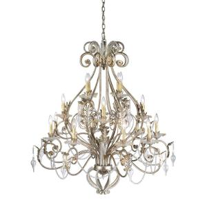Hampton Bay Allure 16-Light Antique Silver Chandelier by Hampton Bay