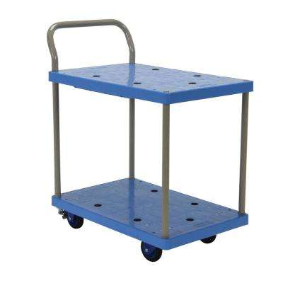18 in. x 24 in. Plastic Truck Double Deck with Foot Brake