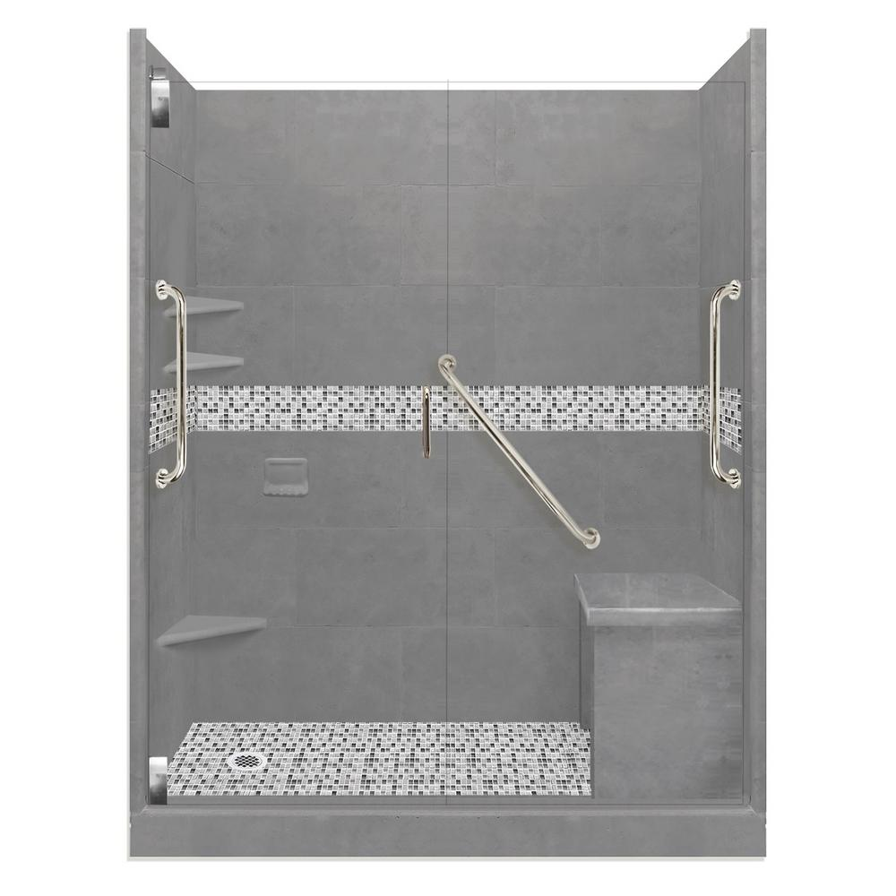 American Bath Factory Del Mar Freedom Grand Hinged 36 In X 60 In X 80 In Left Drain Alcove