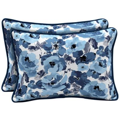 22 x 15 Garden Delight Reversible Oversized Lumbar Outdoor Throw Pillow (2-Pack)