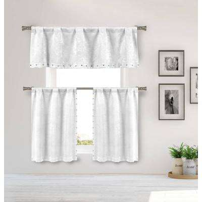 Marcy White Room Darkening Tier - 55 in. W x 16 in. L and 27 in. W x 36 in. L in (2-Piece)