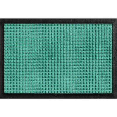Aqua Shield with Rubber Border Aquamarine 17.5 in. x 26.5 in. Pet Mat