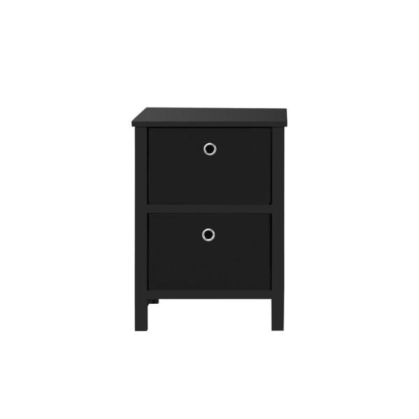 Achim EZ Home Solutions 2-Drawer Black Foldable Night Stand FFR101BK01