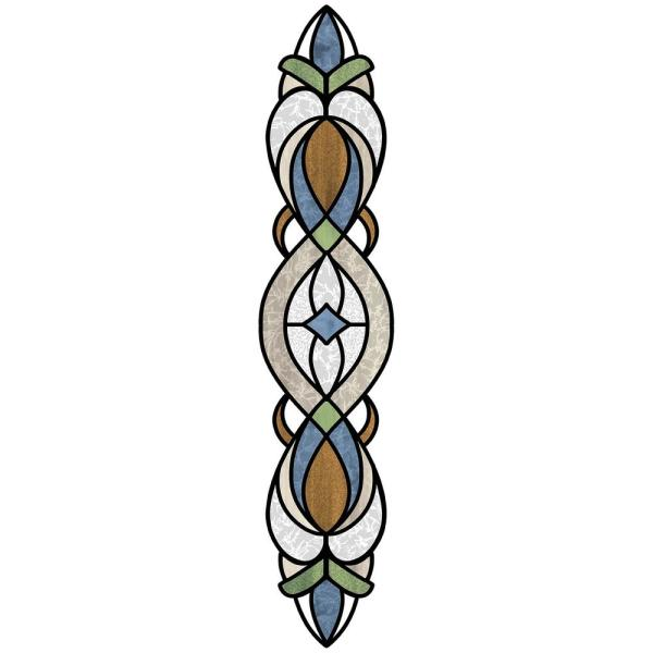 Blue Bristol Stained Glass Decal (Set of 2)