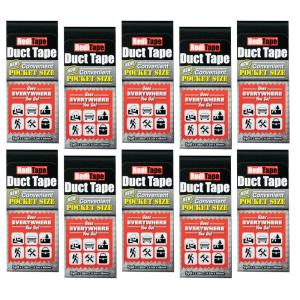 RediTape Pocket Size Duct Tape in Black (10-Pack)