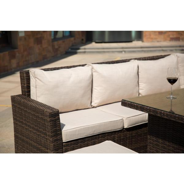 Brown Wicker Outdoor Sectional Set