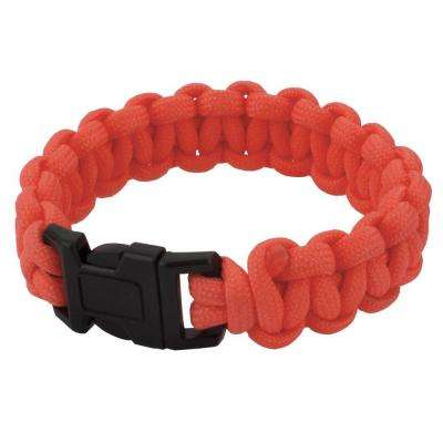 9 in. Orange Paracord Bracelet
