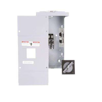 100 Amp 2-Space 2-Circuit Main Breaker Outdoor Load Center