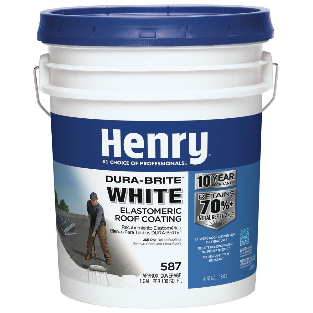 4.75 Gal. 587 100% Acrylic Dura-Brite White Elastomeric Roof Coating (24-Piece)