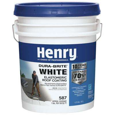 4.75 Gal. 587 100% Acrylic Dura-Brite White Elastomeric Roof Coating (24-Piece)