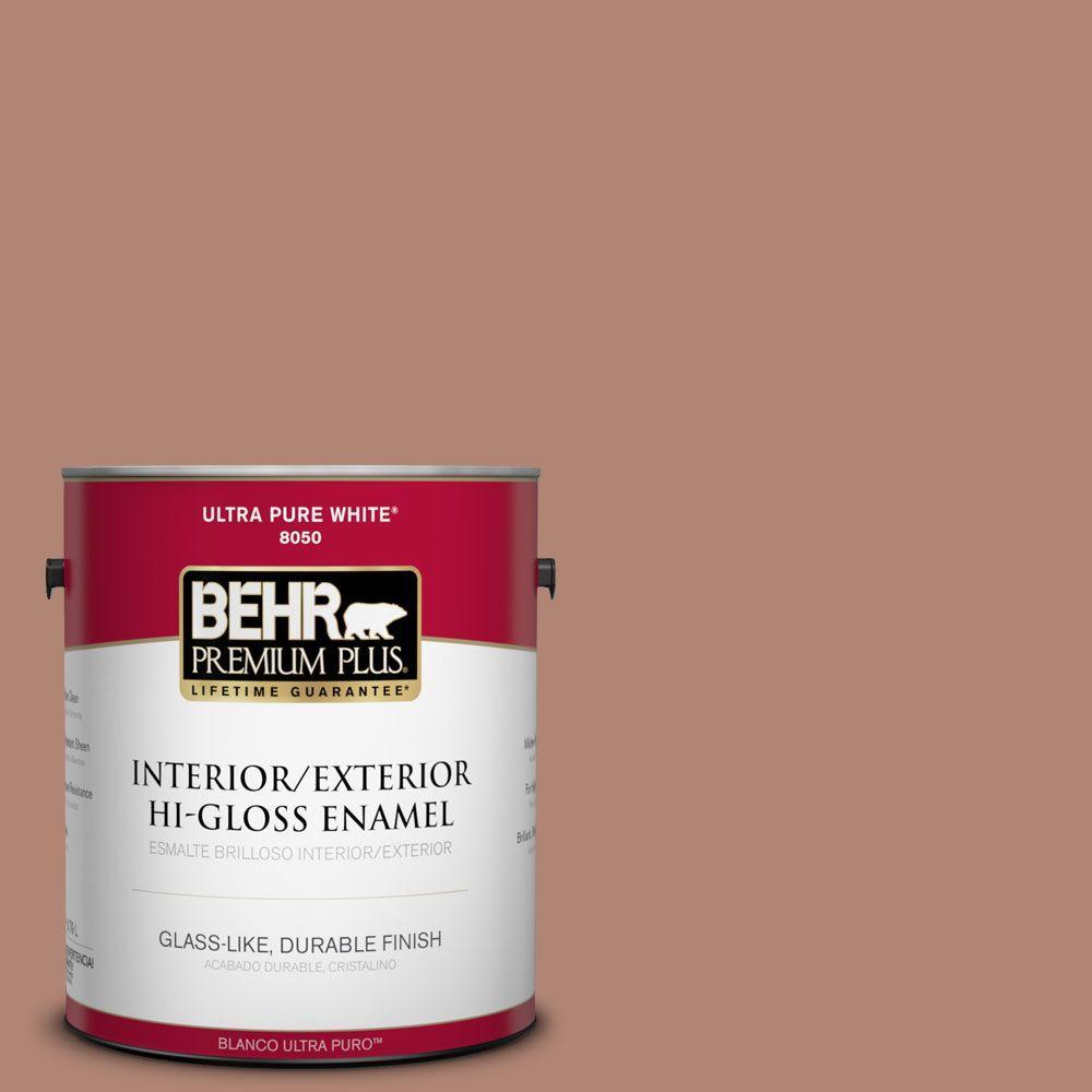 1-gal. #220F-5 Light Mocha Hi-Gloss Enamel Interior/Exterior Paint