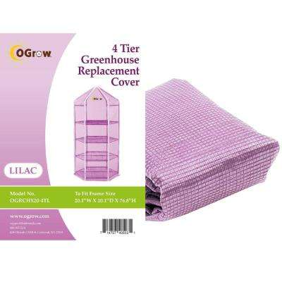 4-Tier Hexagonal Greenhouse Replacement Cover