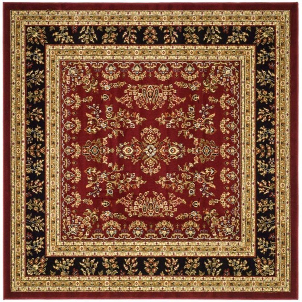 Safavieh Lyndhurst Red/Black 6 ft. x 6 ft. Square Area Rug