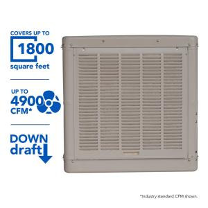 Click here to buy Champion Cooler 4900 CFM Down-Draft Roof Evaporative Cooler for 1800 sq. ft. (Motor Not Included) by Champion Cooler.