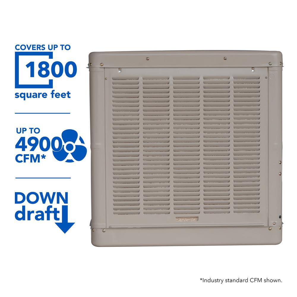 4900 CFM Down-Draft Roof Evaporative Cooler for 1800 sq. ft. (Motor