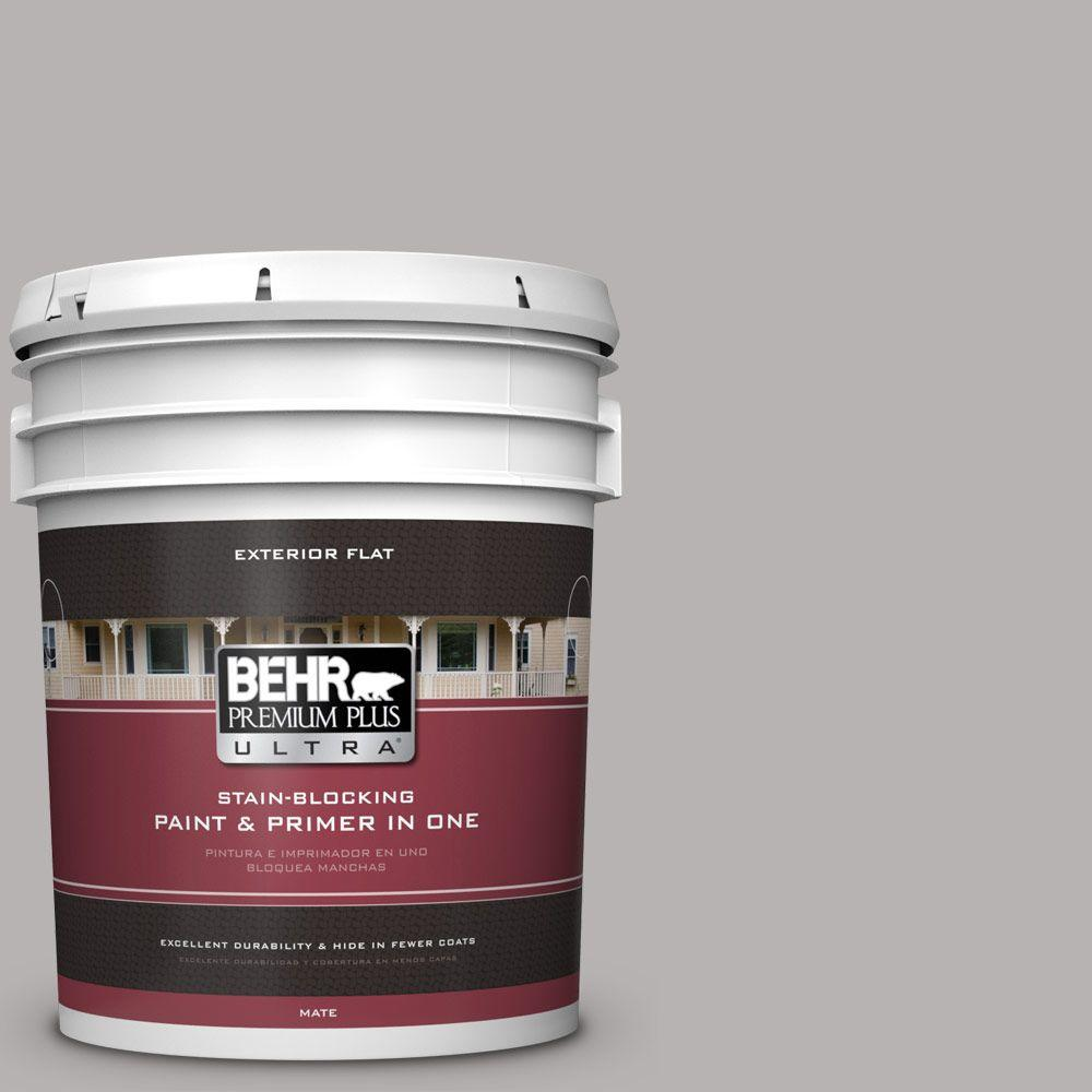 BEHR Premium Plus Ultra 5-gal. #790E-3 Porpoise Flat Exterior Paint ...