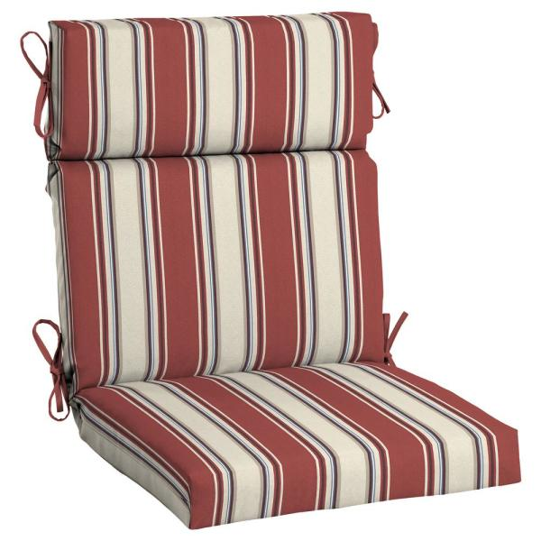 X 24 In Chili Stripe Outdoor High Back