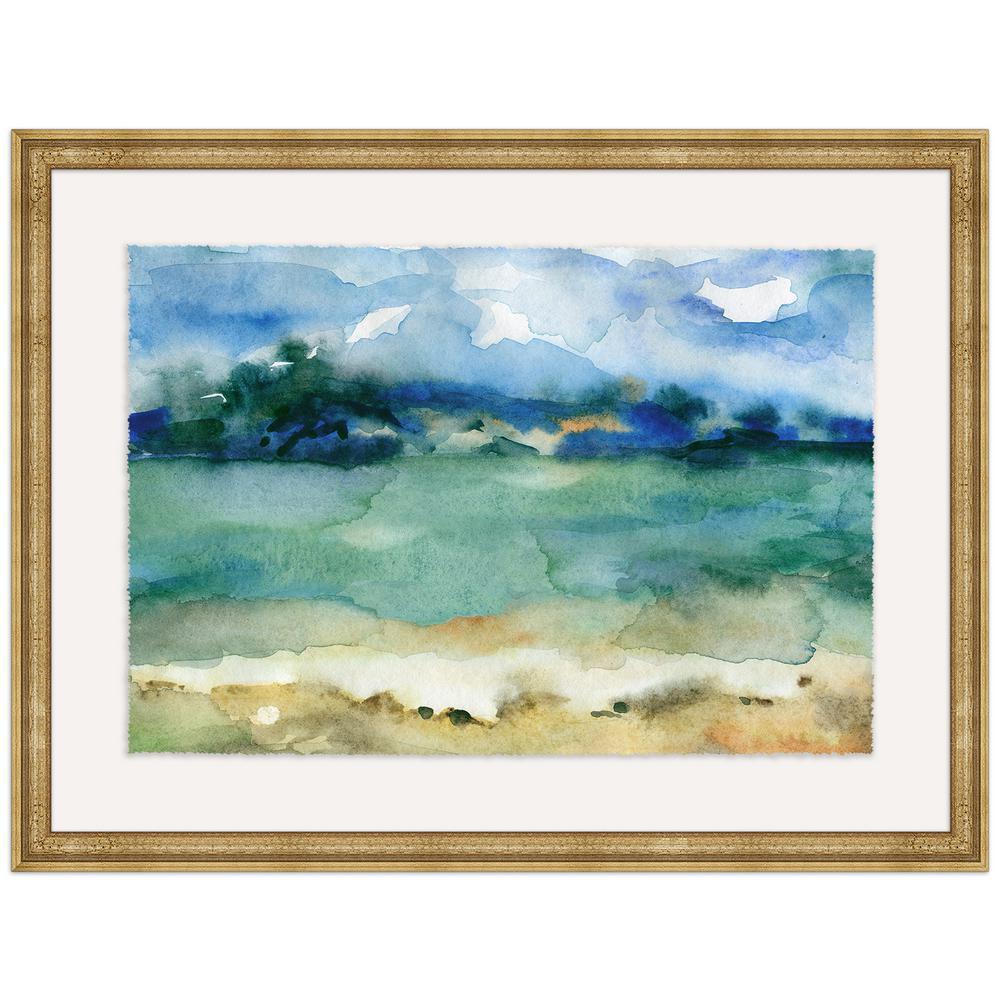 "41 in. x 31 in. ""Morning Hue"" Framed Giclee Print Wall Art"
