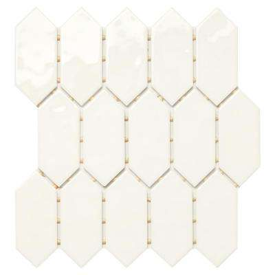 LuxeCraft White Picket 11 in. x 12 in. x 6.35mm Glazed Ceramic Mosaic Tile (0.73 sq. ft. / piece)