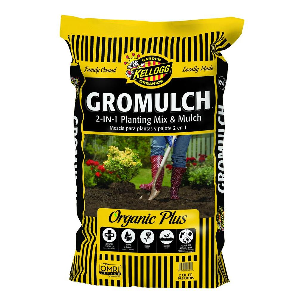 Kellogg Garden Organics 2 cu. ft. Gromulch 2-in-1 Planting Mix and Mulch