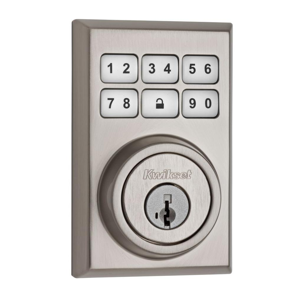 SmartCode 909 Contemporary Satin Nickel Single Cylinder Electronic Deadbolt