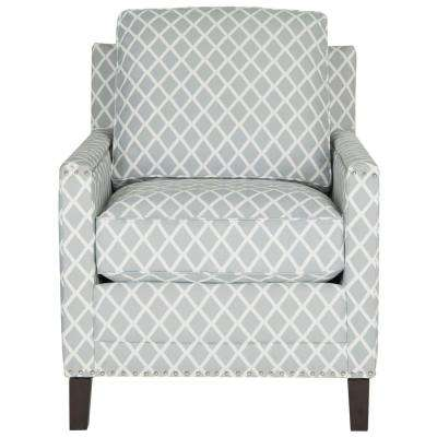 Buckler Gray/White/Espresso Polyester Arm Chair