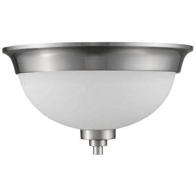 Vitoria 2-Lights Satin Nickel FlushMount