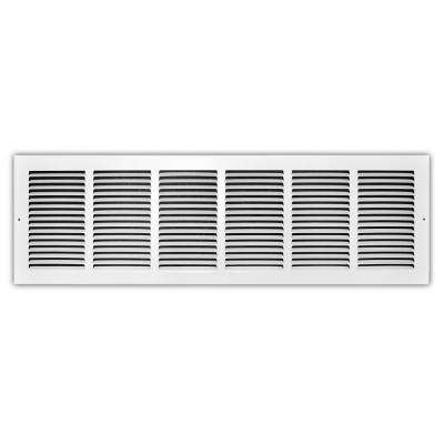 30 in. x 8 in. White Return Air Grille