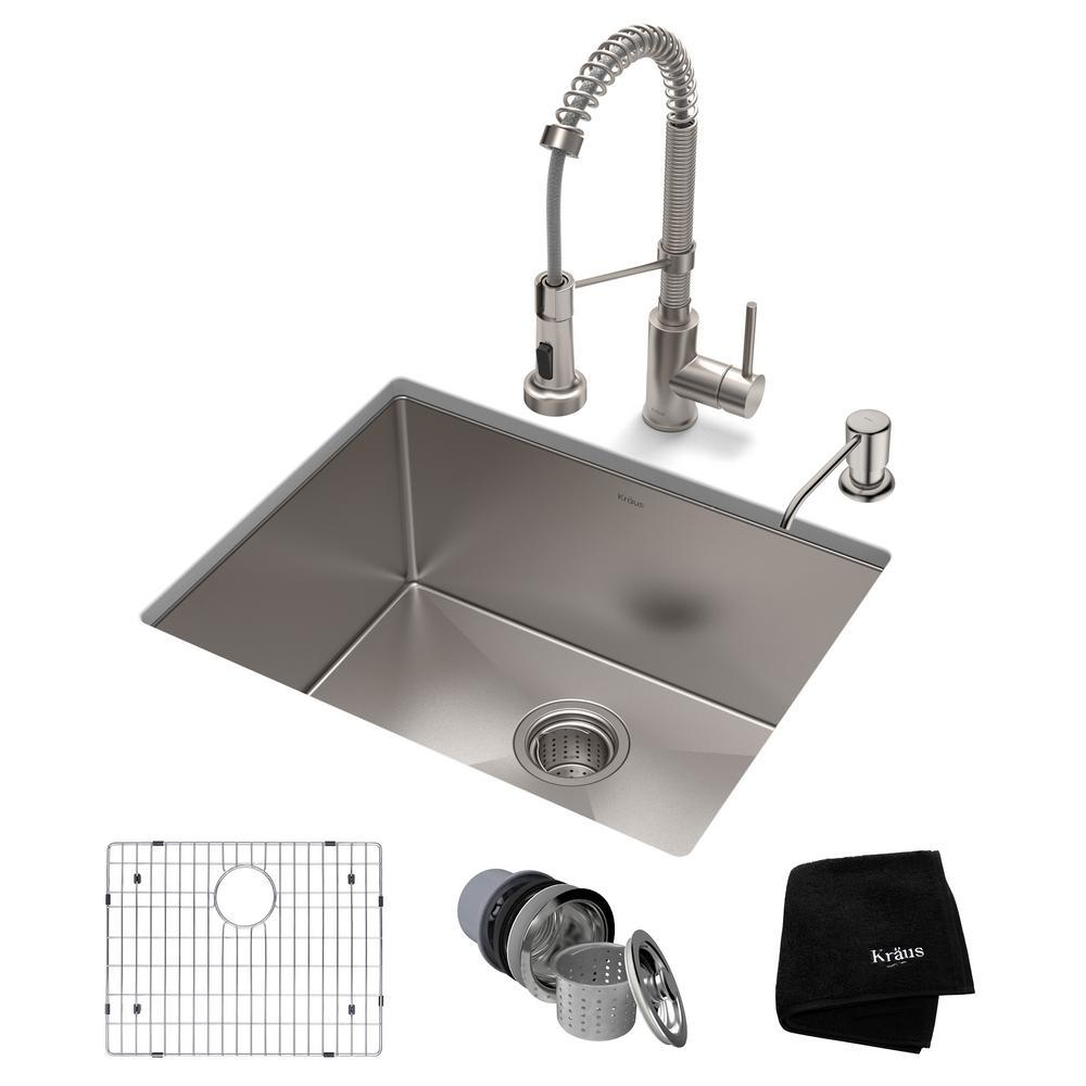 Kraus Standart Pro All In One Undermount Stainless Steel 23