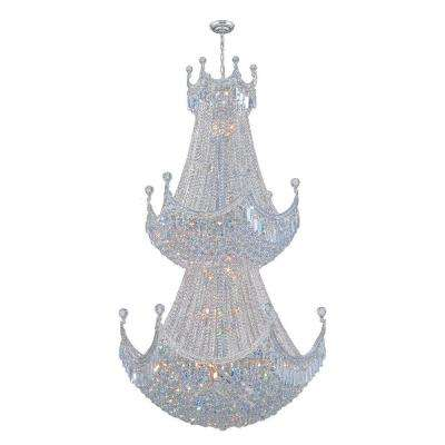 Empire Collection 36-Light Chrome and Crystal Chandelier