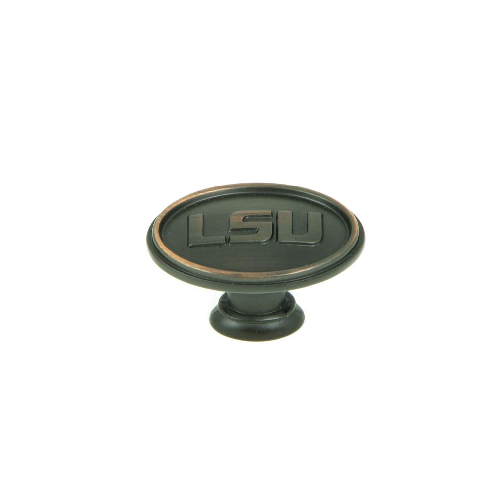 stone mill hardware ncaa lsu 1 1 2 in oil rubbed bronze oval cabinet knob 25 pack cl81097 ob. Black Bedroom Furniture Sets. Home Design Ideas