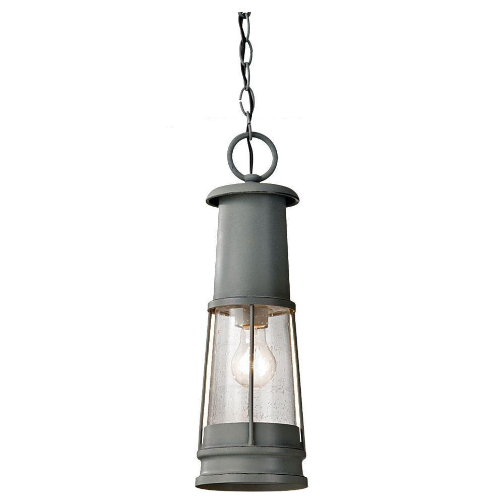 Feiss Chelsea Harbor 1-Light Storm Cloud Outdoor Hanging Lantern
