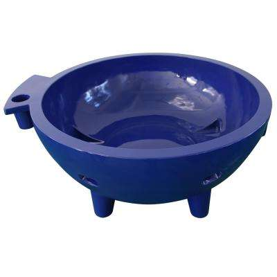 Fire Hot Tub-DB 63 in. Acrylic Flat Bottom Bathtub in Dark Blue