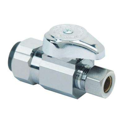 1/2 in. Nominal Push Connect Inlet x 3/8 in. O.D. Compression Outlet 1/4-Turn Straight Valve