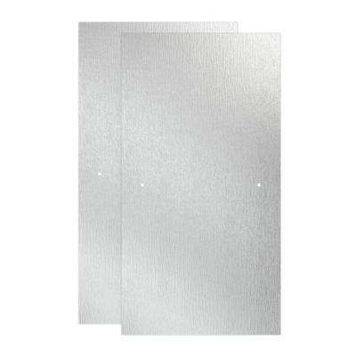 29-1/32 in. x 55-1/2 in. x 3/8 in. Frameless Sliding Bathtub Door Glass Panels in Rain (1-Pair for 50-60 in. Doors)