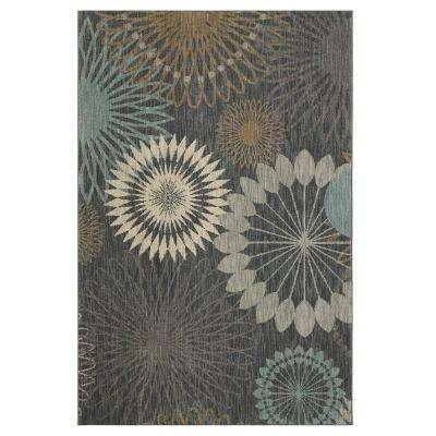 Canon Abyss Blue 8 ft. x 11 ft. Indoor Area Rug