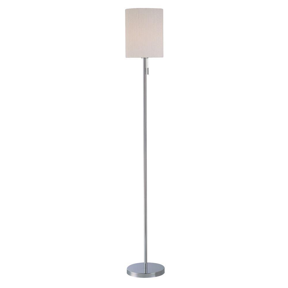 Illumine Designer 53.5 in. White Fluorescent Floor Lamp