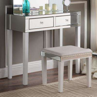 Primrose White Vanity Tables with Mirrored 2-Drawer