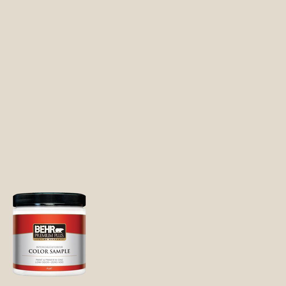 BEHR Premium Plus 8 oz. #W-B-720 Oyster Interior/Exterior Paint Sample