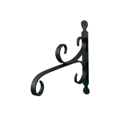 12 in. W Small Black Powder Coat Iron All-Purpose Traditional Style Bracket
