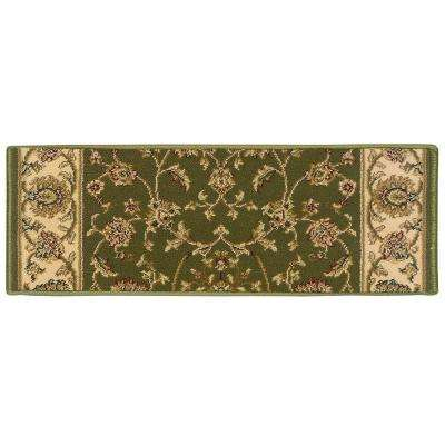 Kurdamir Rockland Green 9 in. x 26 in. Stair Tread Cover
