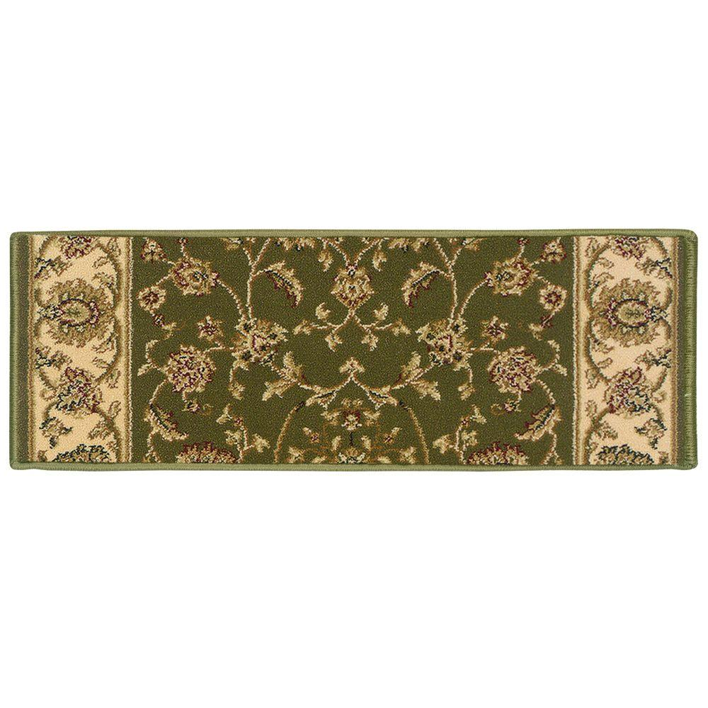 Kurdamir Rockland Green 9 in. x 33 in. Stair Tread Cover