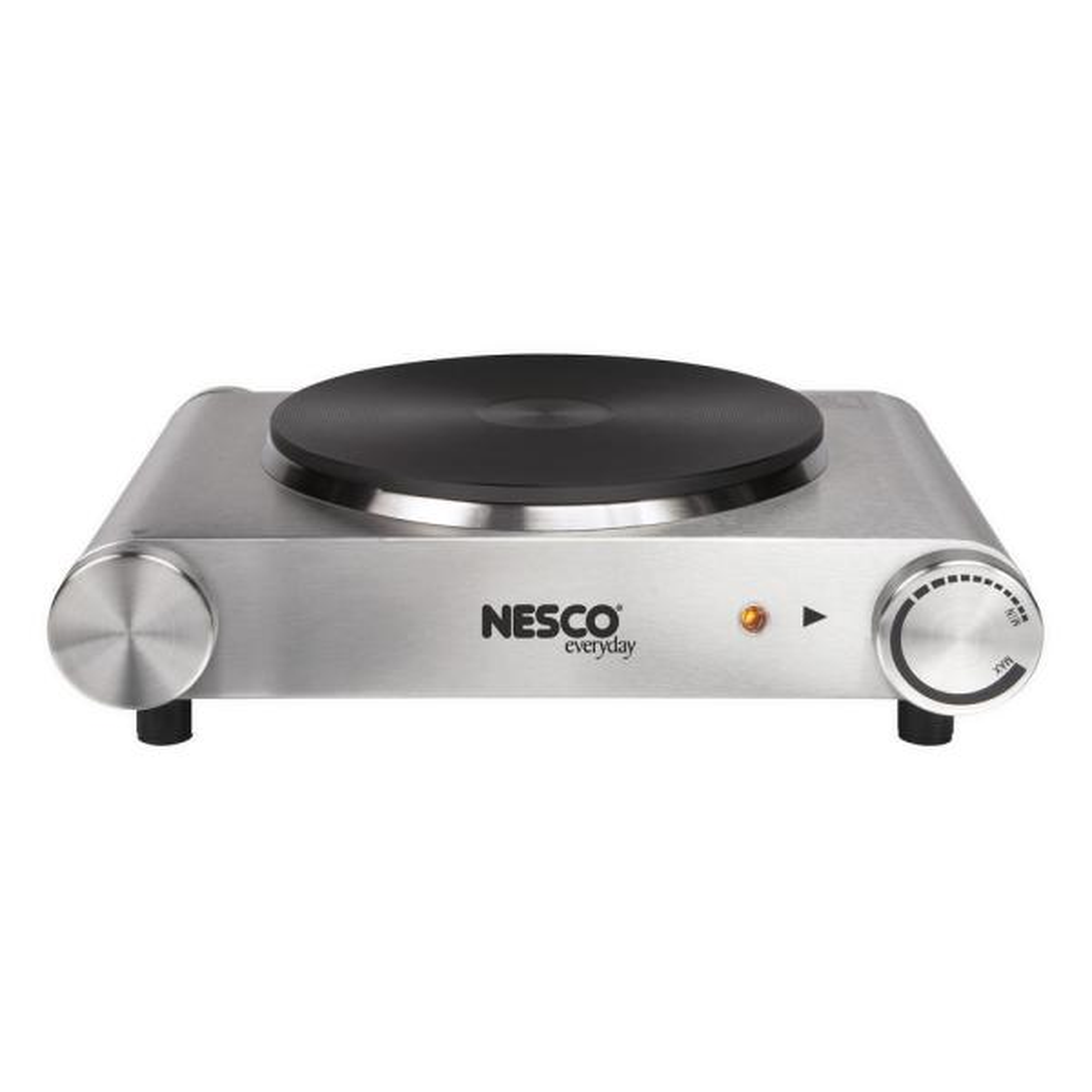Nesco Single Burner 7.4 in. Silver Hot Plate with Temperature Control