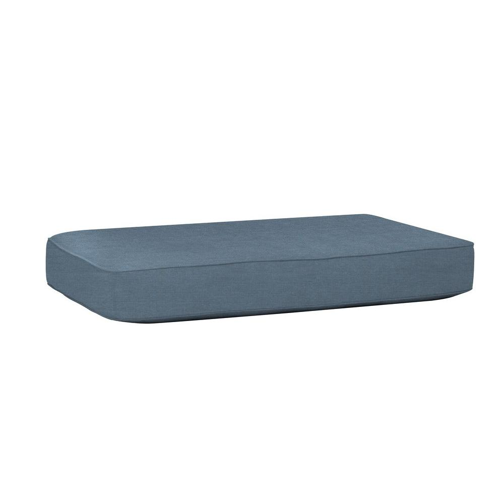 Northshore Patio Ottoman/Coffee Table Replacement Cushion in Denim