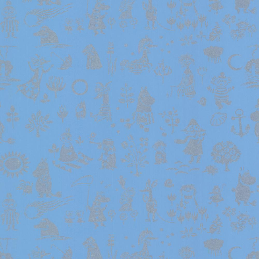 Moomin Blue Novelty Wallpaper