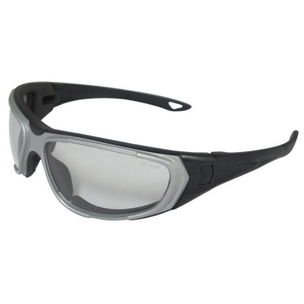 NT2 Eye Protection with Notched Foam Lining, Silver Frame/Clear Anti-Fog Lens