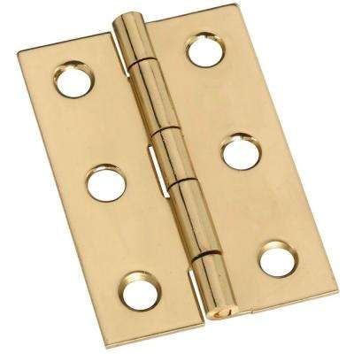 2 in. Solid Brass Broad Hinge