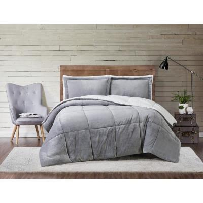 Cuddle Warmth Grey Full/Queen Comforter Set