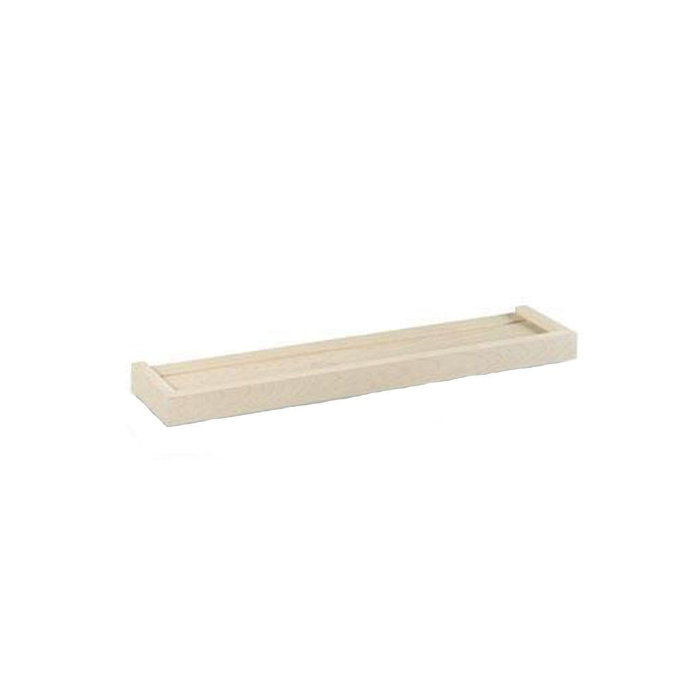60 in. W x 5.25 in. D x 1.5 in. H Floating Unfinished Display Ledge Shelf